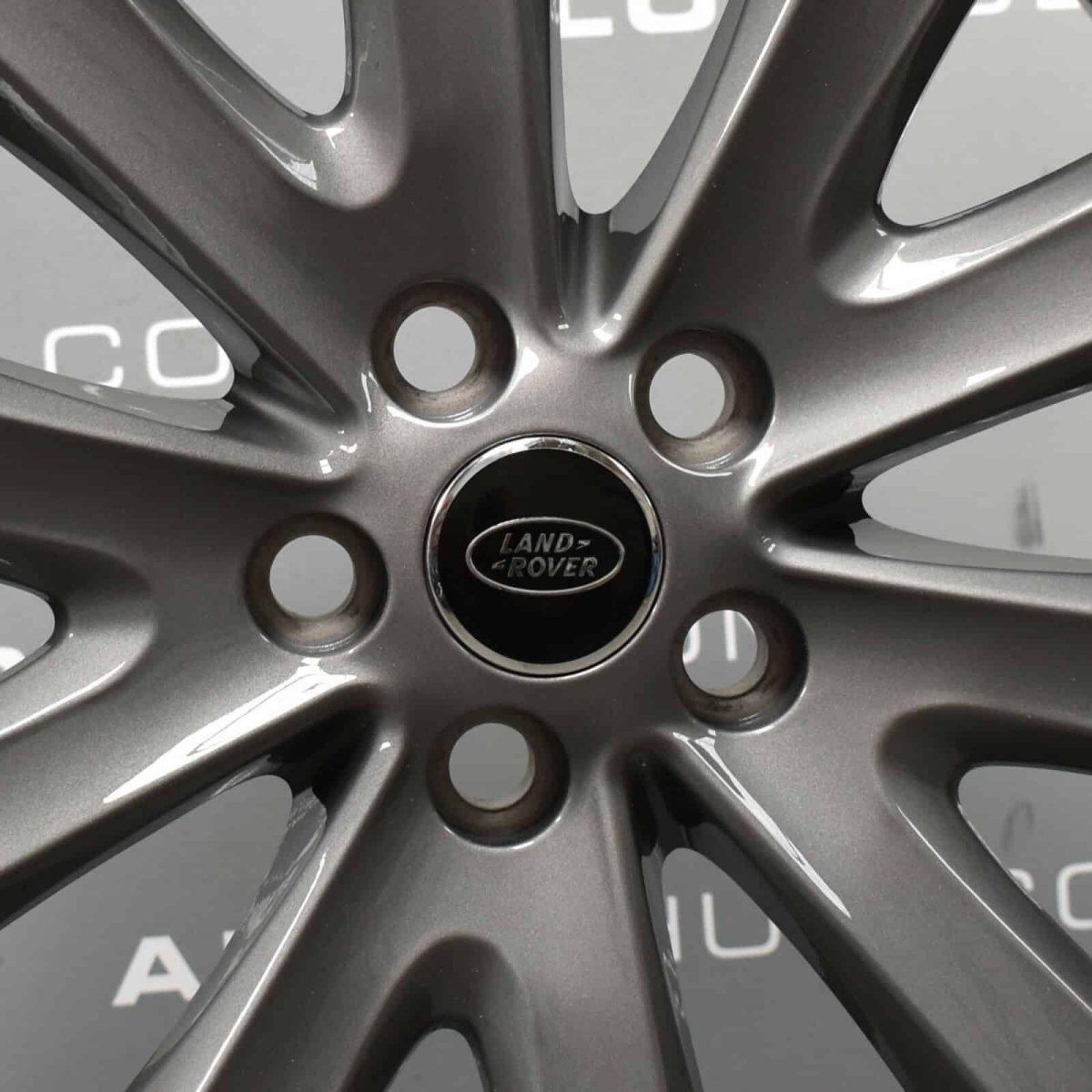 "Genuine Land Rover Range Rover Style 5002 20"" inch 5 Split Spoke Anthracite Grey Alloy Wheels LR037745"