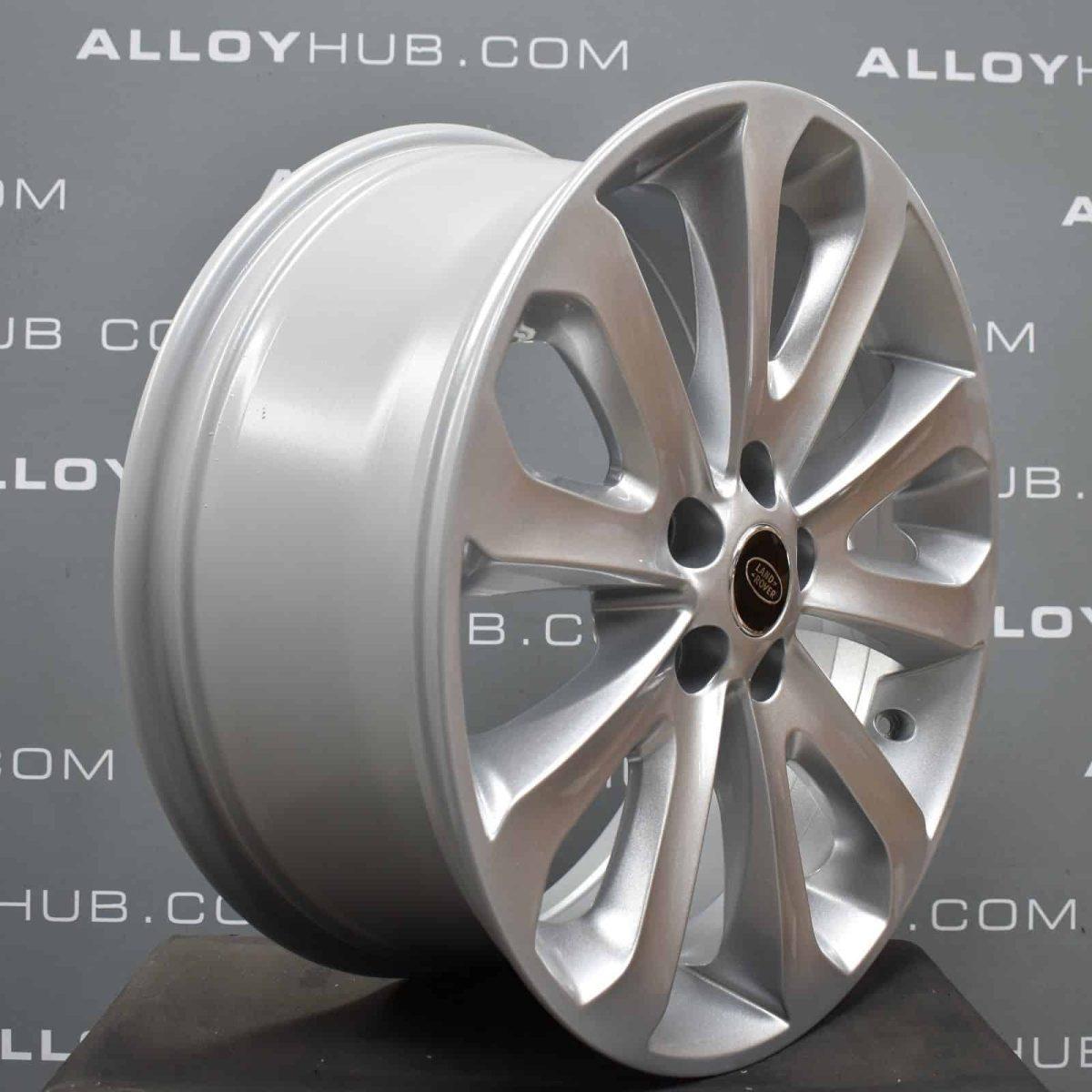 "Genuine Land Rover Range Rover Style 5002 20"" inch 5 Split Spoke Silver Alloy Wheels LR037745"