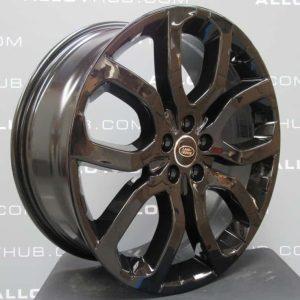 "Genuine Range Rover Evoque L538 20"" inch Style 5004 5 Split-Spoke Gloss Black Alloy Wheels LR024425"