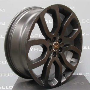 "Genuine Range Rover Evoque L538 20"" inch Style 5004 5 Split-Spoke Satin Black Alloy Wheels LR024425"