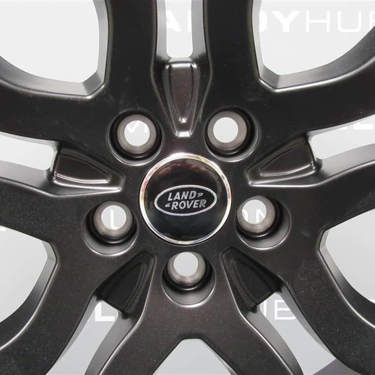 "Genuine Land Rover Range Rover L405 L494 22"" Style 5004 5 Split Spoke Satin Black Alloy Wheels LR037747"