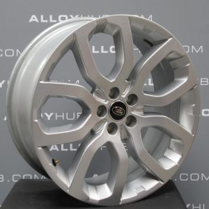 "Genuine Range Rover Evoque L538 20"" inch Style 5004 5 Split-Spoke Sparkle Silver Alloy Wheels LR024425"