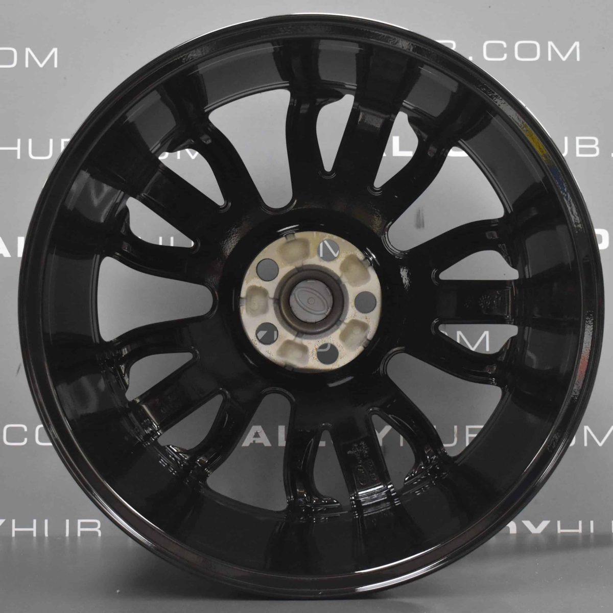 "Genuine Land Rover Range Rover Style 5007 21"" inch 5 Split-Spoke Gloss Black Forged Alloy Wheels VPLWW0091"