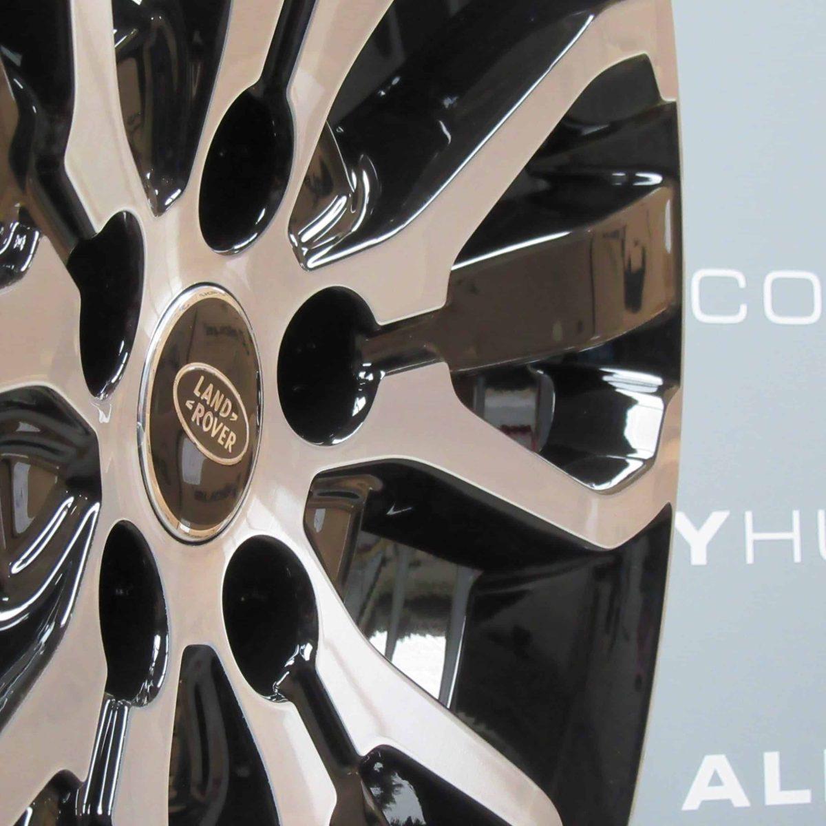 """Genuine Land Rover Range Rover Style 5007 21"""" inch 5 Split-Spoke Gloss Black/Diamond Turned Alloy Wheels LR045069"""