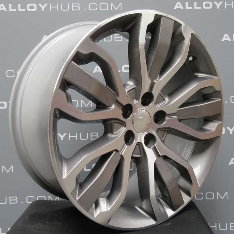 "Genuine Land Rover Range Rover Style 5007 21"" inch 5 Split-Spoke Grey/Diamond Turned Alloy Wheels LR045069"