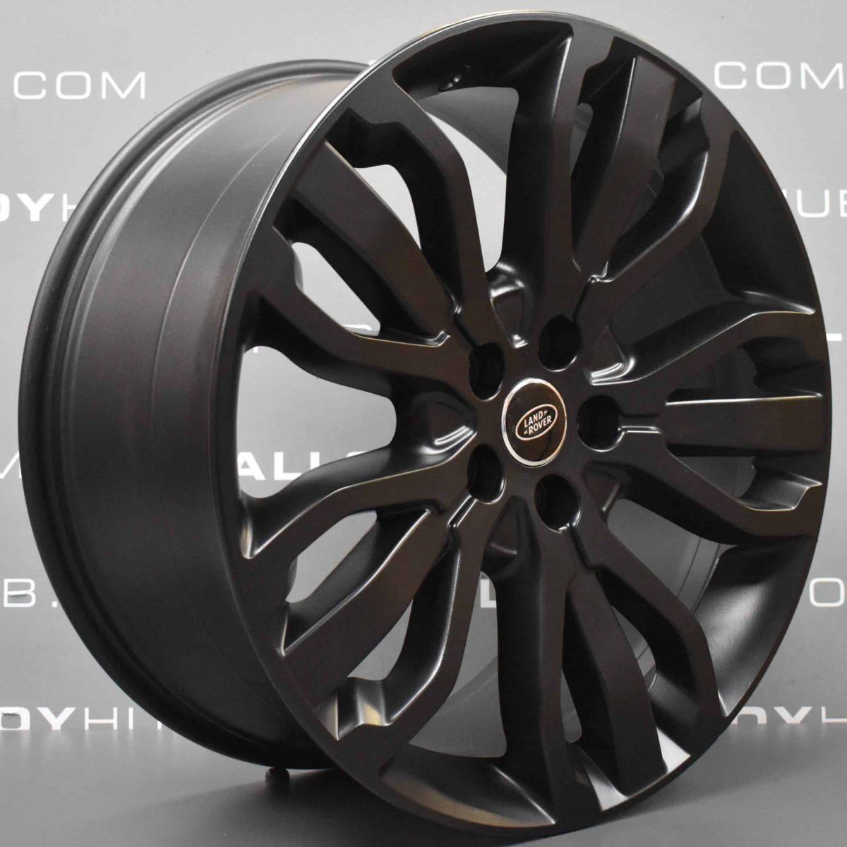 "Genuine Land Rover Range Rover Style 5007 21"" inch 5 Split-Spoke Satin Black Forged Alloy Wheels VPLWW0091"