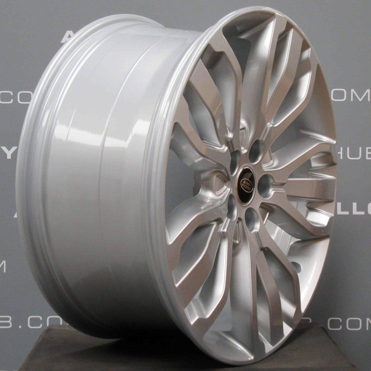 "Genuine Land Rover Range Rover Style 5007 21"" inch 5 Split-Spoke Sparkle Silver Alloy Wheels LR044850"
