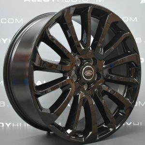 """Genuine Land Rover Range Rover L405 L494 22"""" Style 16 7007 Alloy Wheels with Full Gloss Black Finish LR039141"""
