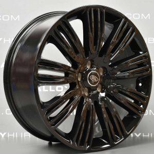 "Genuine Land Rover Range Rover L405 L494 22"" inch Style 9012 9 Split-Spoke Gloss Black Alloy Wheels LR099147"