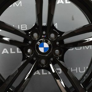"Genuine BMW 437M Sport M2 M3 M4 19"" Inch Alloy Wheels with Gloss Black Finish 36112284755,36112284756"