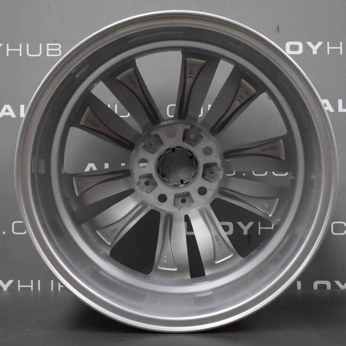 """Genuine BMW 5 Series F10 F11 234 5 Double Spoke 18"""" inch Alloy Wheels with Silver Finish 36116775403"""