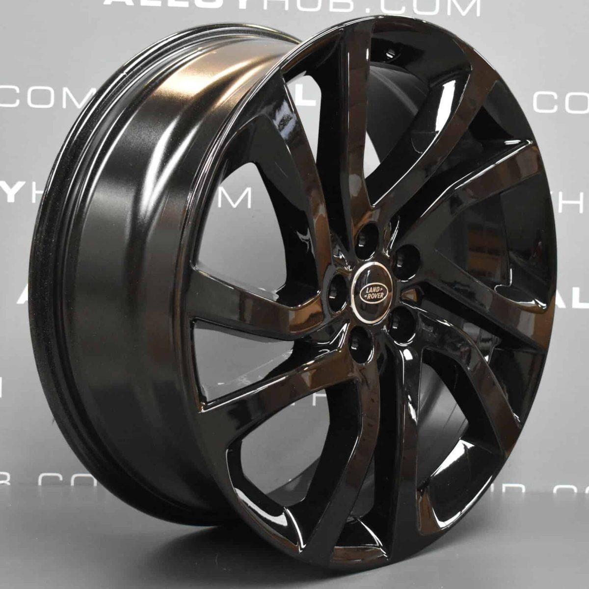 "Genuine Land Rover Discovery Sport HSE L550 20"" inch Style 5011 5 Split Spoke Gloss Black Alloy Wheels LR074095"