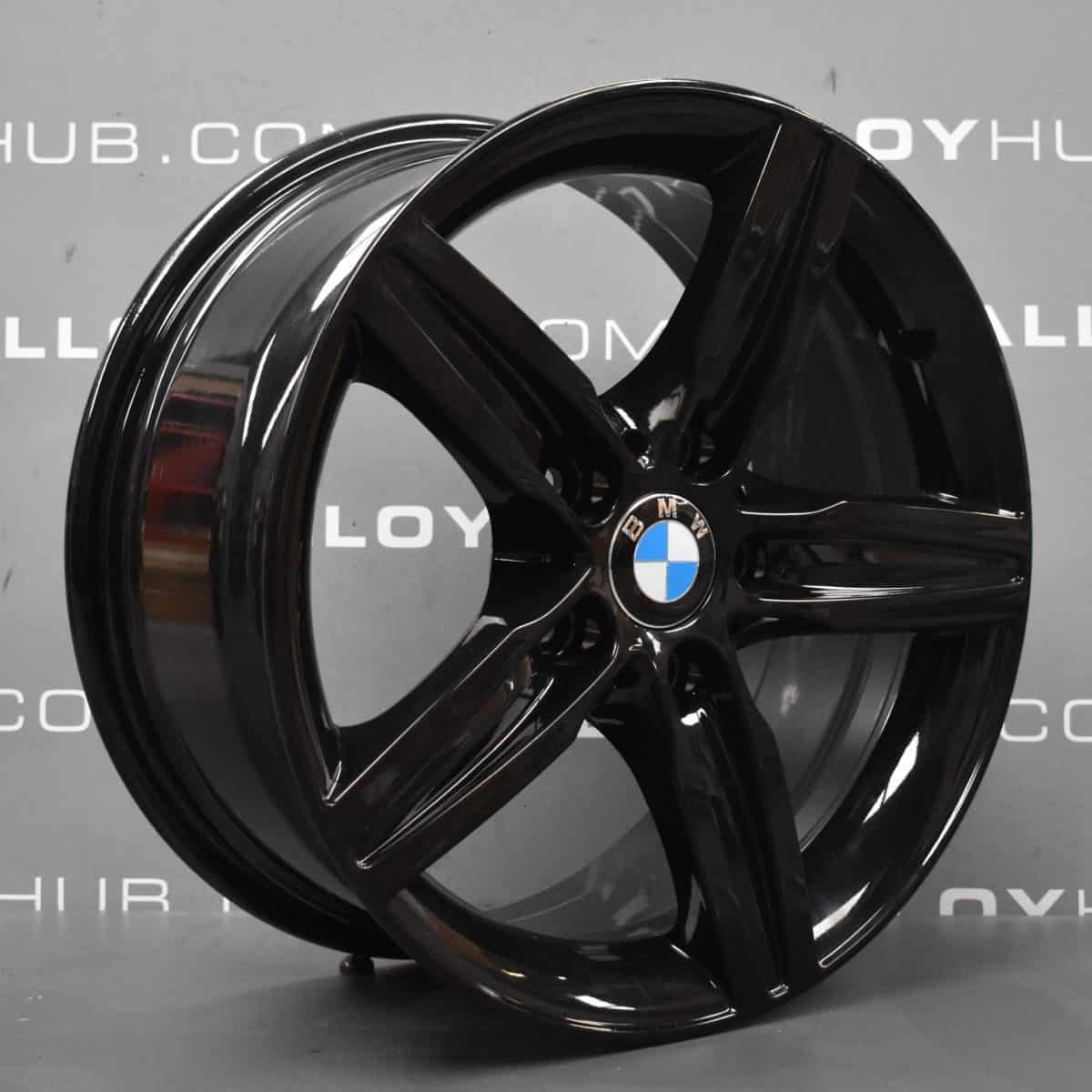"""Genuine BMW 1/2 Series F20 F22 Style 379 Sport 5 17"""" Inch Alloy Wheels with Gloss Black Finish 36116850151"""