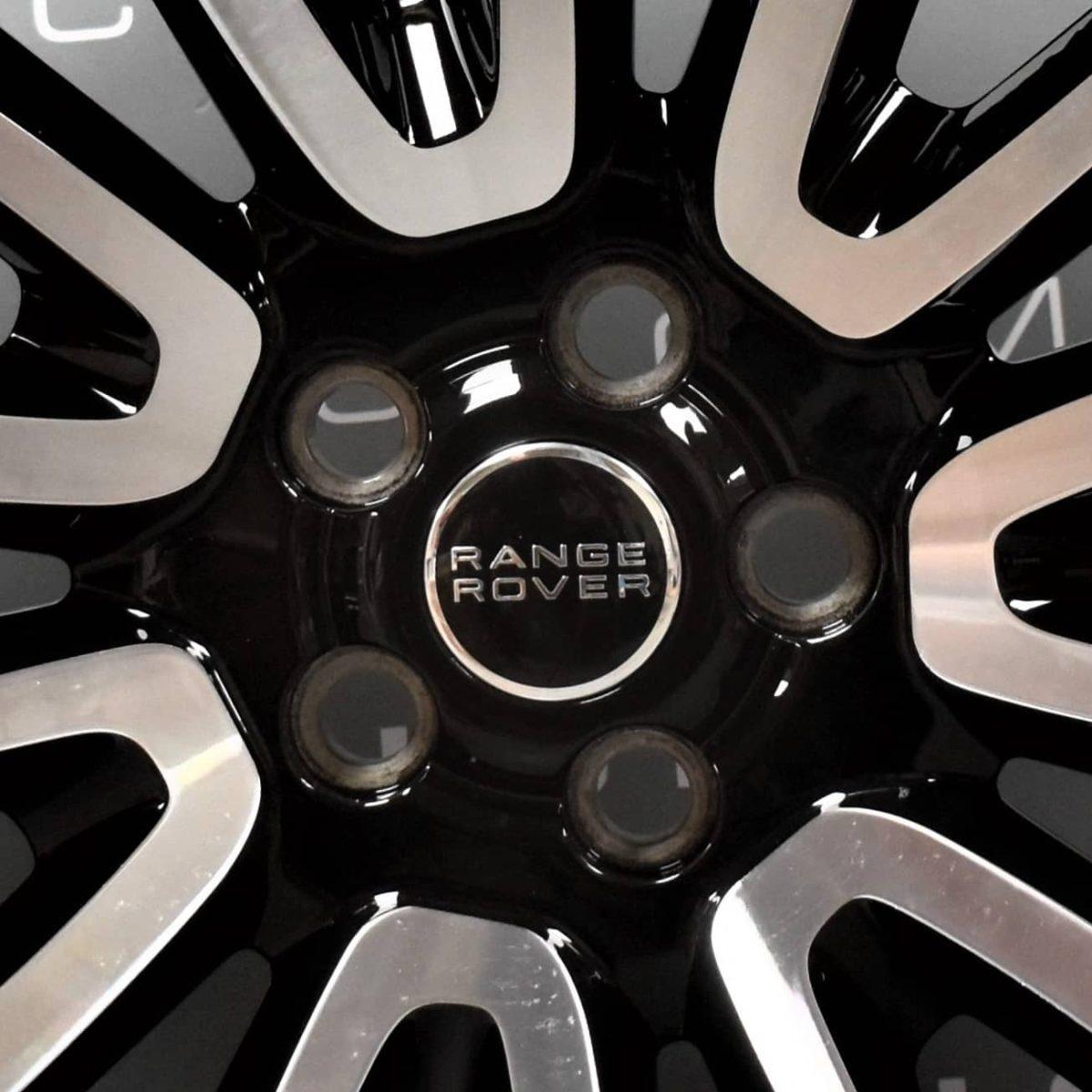 "Genuine Land Rover Range Rover L405 L494 22"" Style 16 7007 Gloss Black & Diamond Turned Alloy Wheels LR039141"