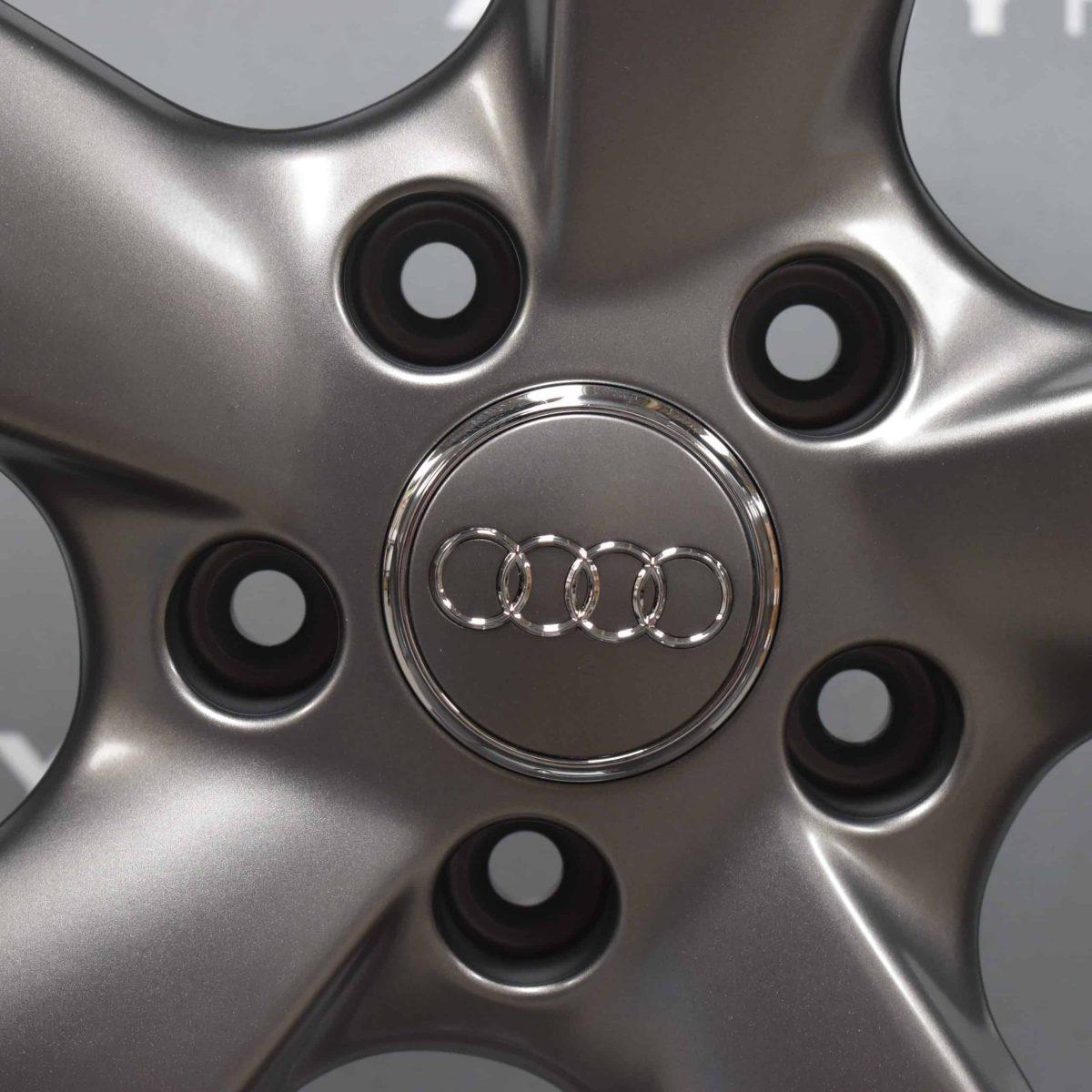"Genuine Audi Q7 4L 5 Spoke Rotor Arm 21"" Inch Alloy Wheels with Diamond Turned Finish 4L0 601 025 CE"