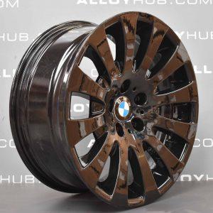 Genuine BMW 6 Series E63/E64 Style 118 18″ Inch 12 Gloss Black Alloy Wheels with Gloss Black Finish 36116758777 36116765306