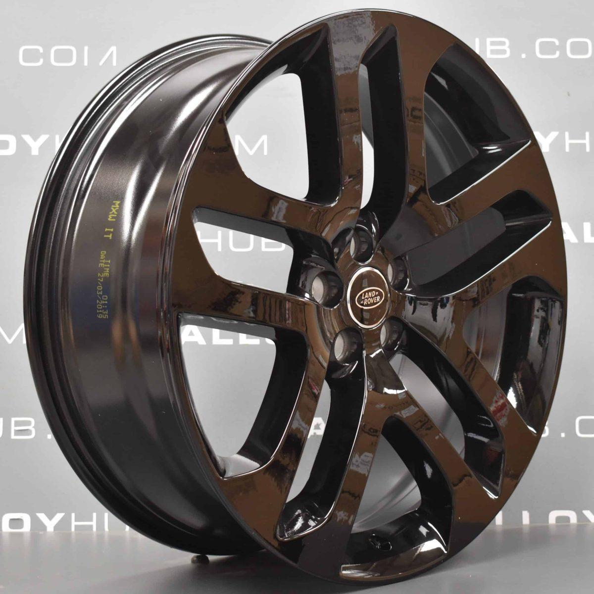 "Genuine Range Rover Evoque 21"" inch Style 5078 5 Split-Spoke Alloy Wheels with Gloss Black Finish LR114523"