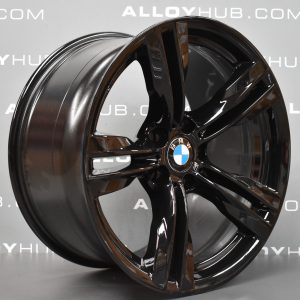 BMW X5 F15 467M Sport Gloss Black Turned 19″ 5 Twin Spoke Alloy Wheel