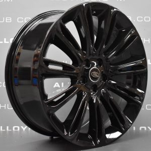 "Genuine Land Rover Range Rover Sport Vogue L405 L494 Style 1046 11 Spoke 22"" inch Gloss Black Alloy Wheels LR098799"
