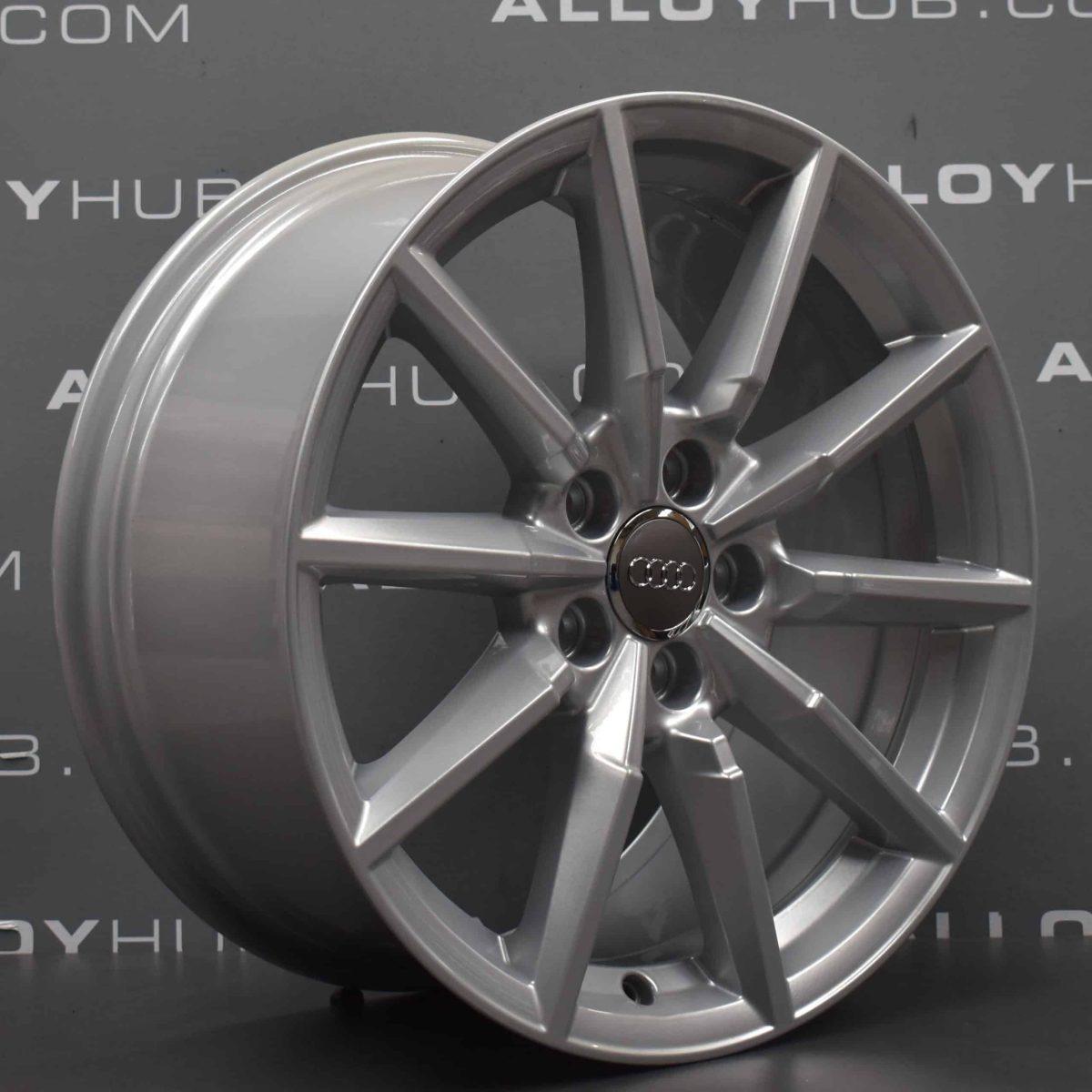 "Genuine Audi TT 8S MK3 10 Spoke 18"" Inch Alloy Wheels with Silver Finish 8S0 601 025 C"