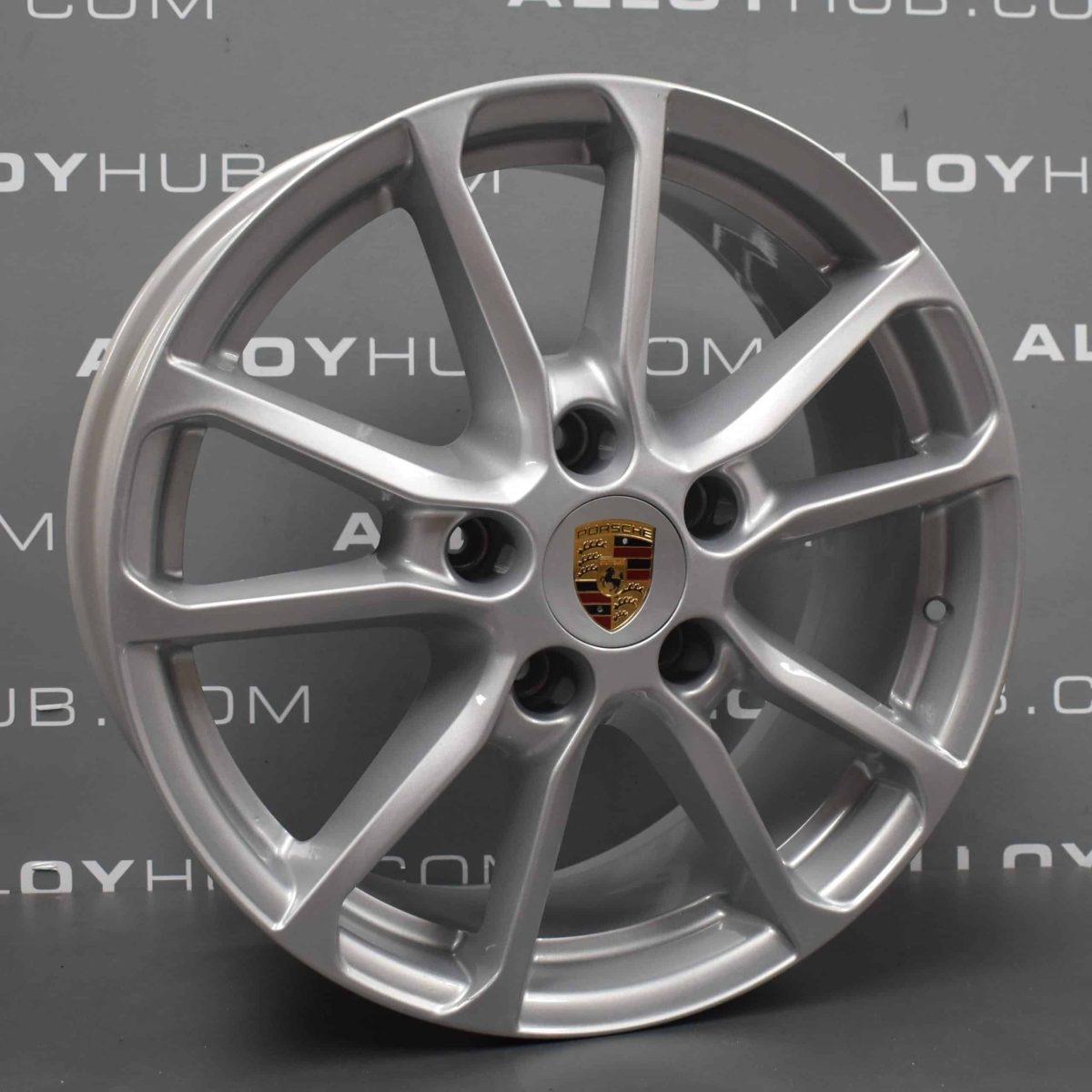 """Porsche Cayenne 958 5 Twin Spoke Silver 18"""" Alloy Wheel 7P5.601.25.AB"""