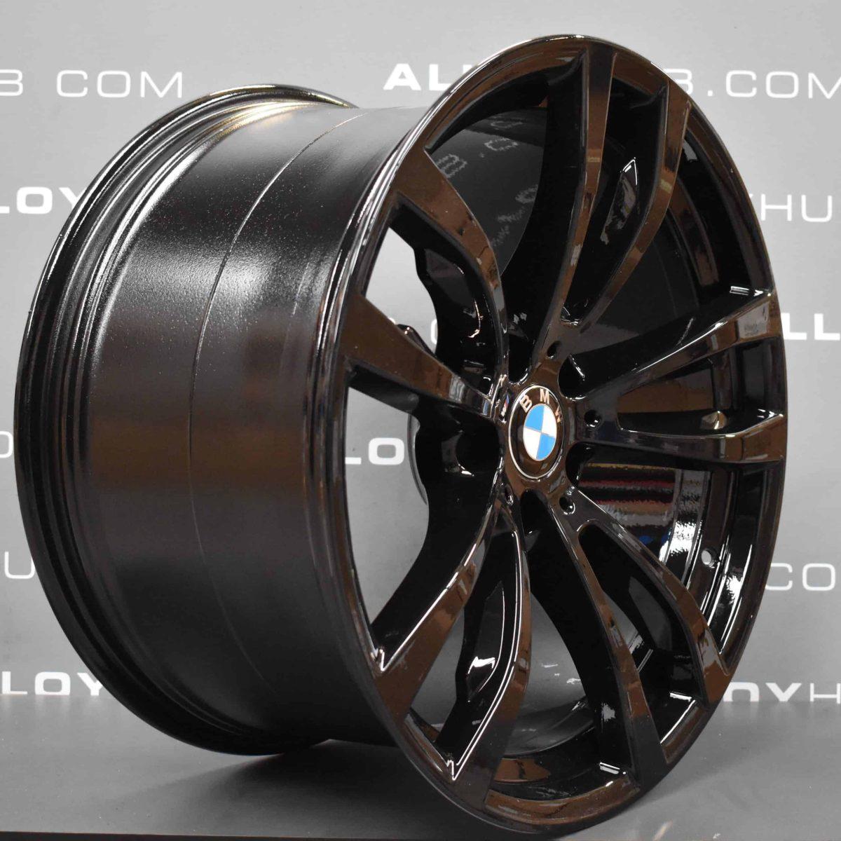 Genuine BMW X5/X6 F15 F16 Style 469M Sport Gloss Black 20″ inch 5 Twin Spoke Alloy Wheels 36117846790 36117846791