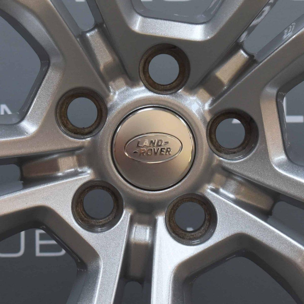 "Genuine Land Rover Range Rover Style 5005 21"" inch 5 Split-Spoke Sparkle Silver Alloy Wheels LR044840"