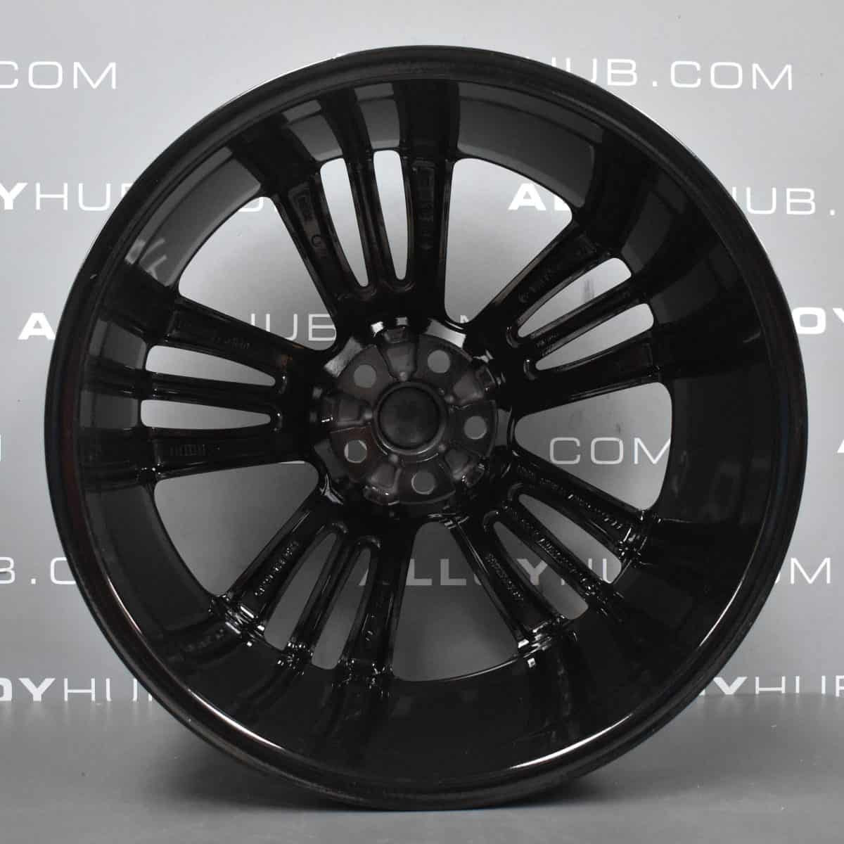 """Jaguar XJ Mataiva 5 Split Spoke 20"""" Gloss Black Alloy Wheel"""