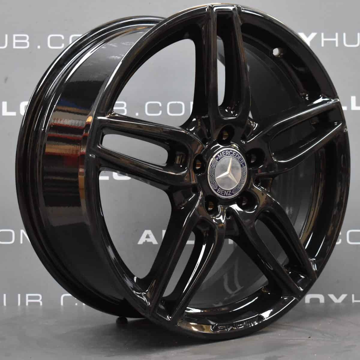 "Mercedes-Benz A Class W176 W246 18"" AMG 5 Twin Spoke Gloss Black Alloy Wheel"