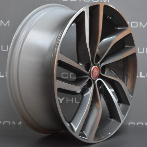 "JAGUAR XF Labyrinth 5 Twin Spoke 20"" Grey / Polish Alloy Wheel"