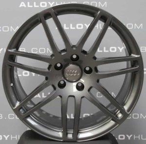 "Genuine Audi Q7 4L 7 Double Spoke 21"" inch Alloy Wheels with Anthracite Grey Finish 4L0 601 025 S3 AJ"