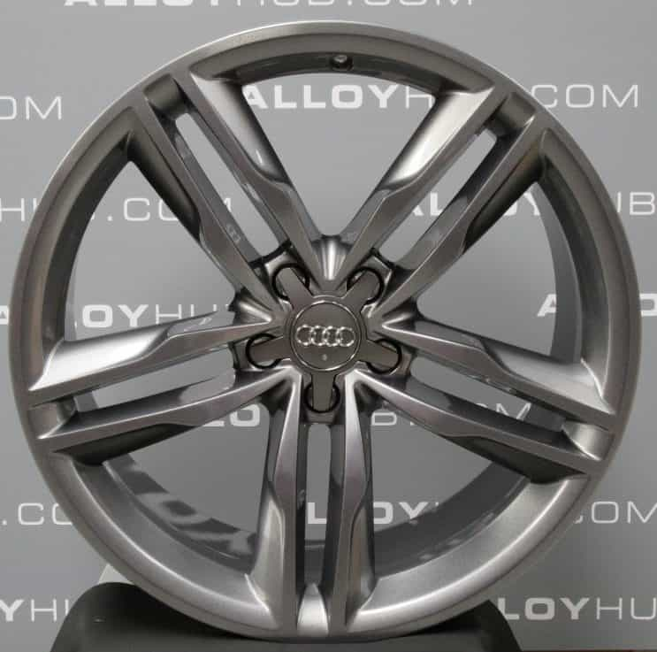 """Genuine Audi A7 S7 RS7 4G8 5 Twin Spoke 20"""" inch Alloy Wheels with Anthracite Grey Finish 4G8 601 025AJ"""