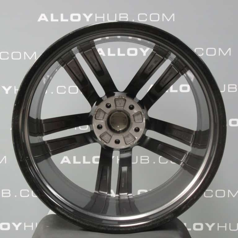 """Genuine Audi A7 S7 RS7 4G 5 Twin Spoke 20"""" Inch Alloy Wheels with Anthracite Grey Finish 4G8 601 025 AJ"""