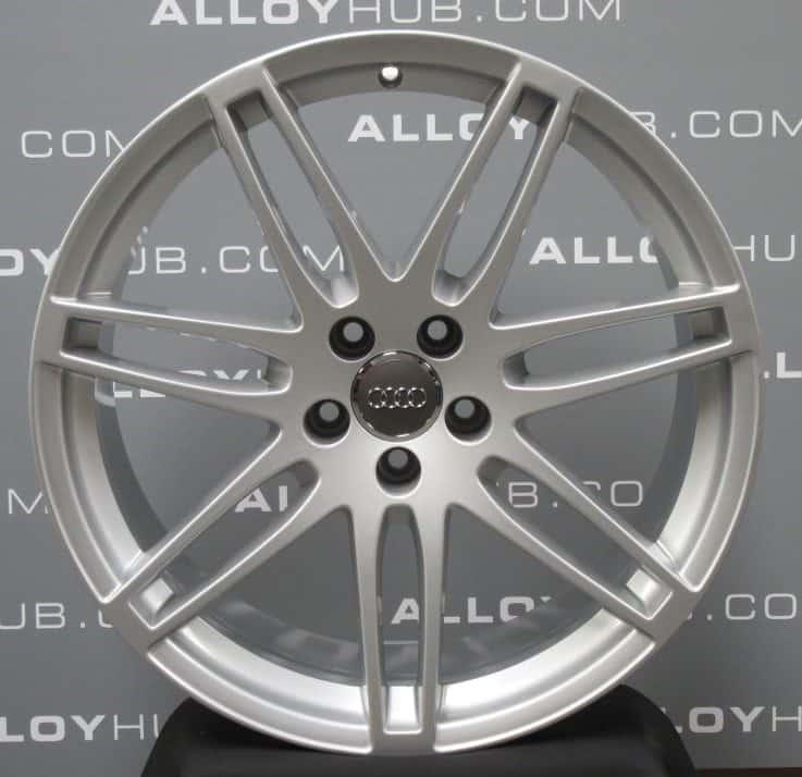"Genuine Audi Q5 SQ5 8R S-Line Quattro 7 Double Spoke 20"" inch Alloy Wheels with Silver Finish 8R0 601 025 R"