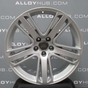 """Genuine Audi RS5 S5 A5 8T 5 Twin Spoke 19"""" Inch Alloy Wheels with Silver Finish 8T0 601 025 AS"""