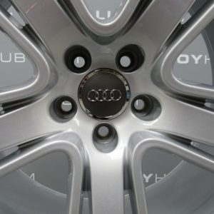 """Genuine Audi RS5 S5 A5 5 Twin Spoke 19"""" Inch Alloy Wheels with Silver Finish 8T0 601 025 AS"""