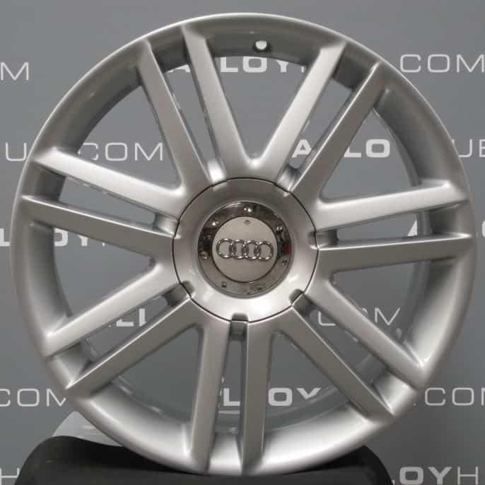 "Genuine Audi S3 A3 8P 7 Double Spoke 18"" Inch Alloy Wheels with Silver Finish 8P0 601 025 AJ"