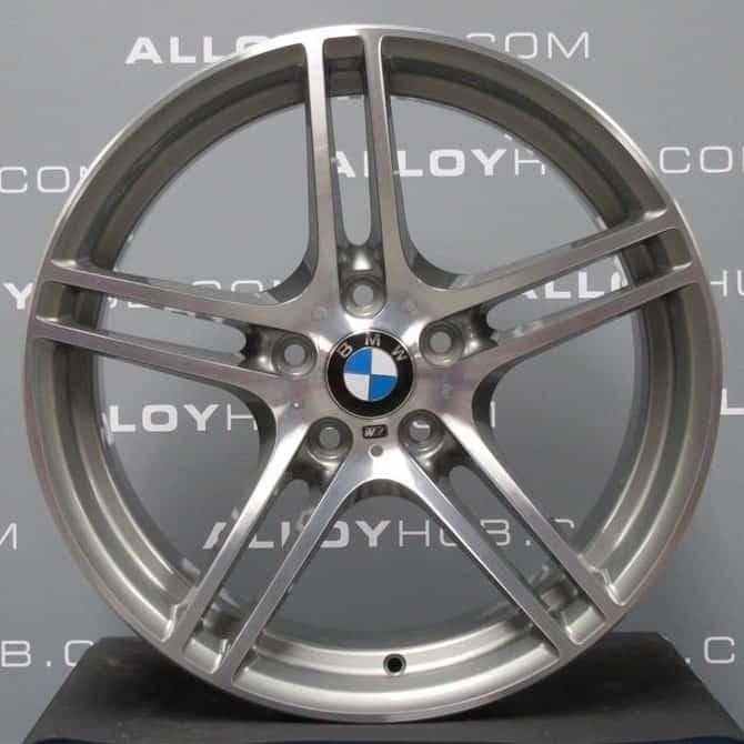 "Genuine BMW 3 Series E90 E91 E92 E93 Style 313M Sport 19"" inch Alloy Wheels with Grey & Diamond Turned Finish 36116787648 36117844344M"