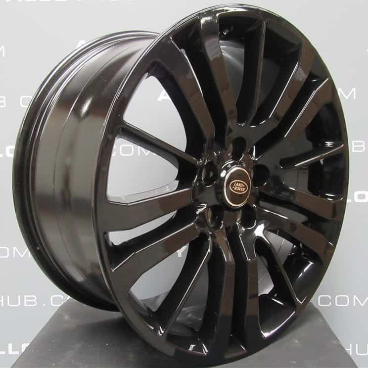 """Genuine Land Rover Range Rover HST Style 3 15 Spoke 20"""" Inch Alloy Wheels with Gloss Black Finish LR008549"""