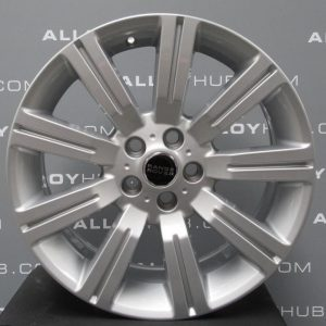 """Genuine Land Rover Range Rover Stormer 20"""" inch 9 Spoke Alloy Wheels with Sparkle Silver Finish LR028995"""