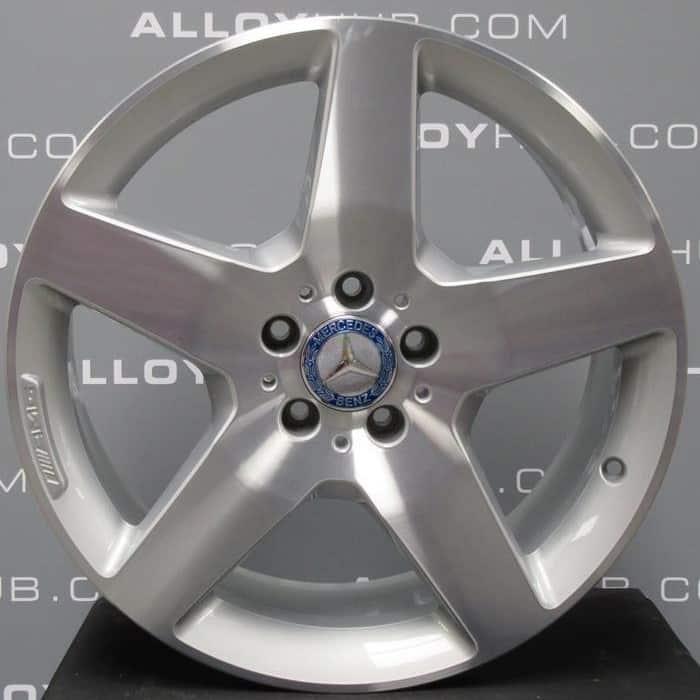 "Genuine Mercedes ML GLE W166 AMG 5 Spoke 19"" inch Alloy Wheels with Silver & Diamond Turned Finish A1664011902"
