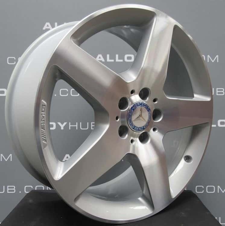 "MERCEDES ML GLE W166 AMG 5 Spoke 19"" Silver & Polished Alloy Wheel"