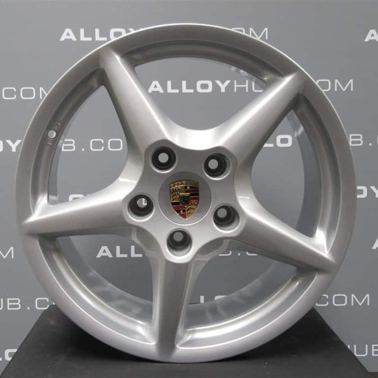 """Porsche 911 997 Carrera 2/2S Classic 5 Spoke 18"""" Silver Alloy Wheel"""