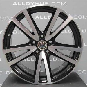 "Genuine Volkswagen Golf MK7 MK6 Vision 18"" inch Alloy Wheels with Black & Diamond Turned Finish 1K5 071 498 1ZL"