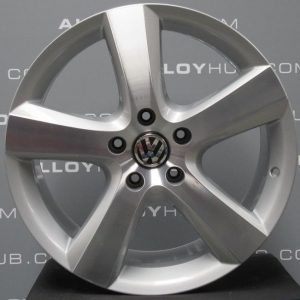 "Genuine Volkswagen Touareg 7L 5 Spoke 20"" inch Alloy Wheels with Silver & Diamond Turned Finish 7L6 601 025 AP"