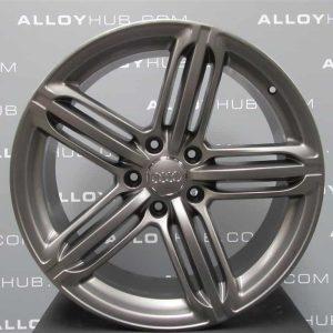 "Genuine Audi Q7 4L 21"" Inch 5 Segment Spoke S-Line Black Edition Alloy Wheels with Titanium Grey Finish 4L0 601 025 BK 8AU"
