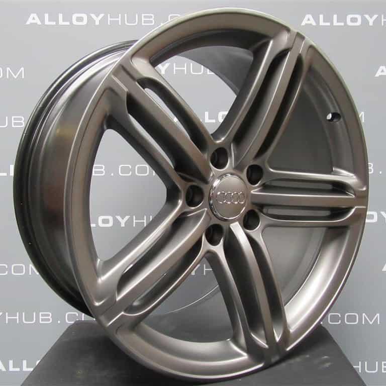 "Genuine Audi MK2 TT/TTS 8J 5 Segment Spoke 19"" Inch Alloy Wheels with Titanium Grey Finish 8J0 601 025 CM"