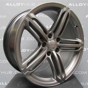 "Genuine Audi Q7 4L 21"" Inch 5 Segment Spoke Black Edition Alloy Wheels with Titanium Grey Finish 4L0 601 025 AE/AL"