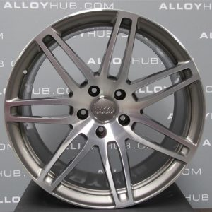 "Genuine Audi Q7 4L 7 Double Spoke 21"" inch Alloy Wheels with Grey & Diamond Turned Finish 4L0 601 025 S3 AJ"
