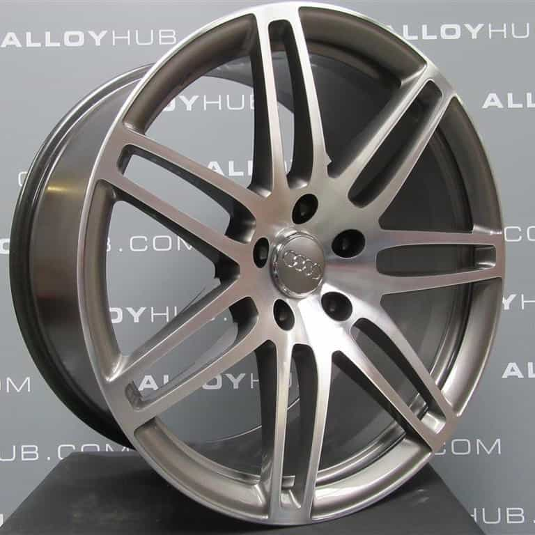 "Genuine Audi Q7 4L 7 Double Spoke 21"" Inch Alloy Wheels with Diamond Turned Finish 4L0 601 025 S3 AJ"